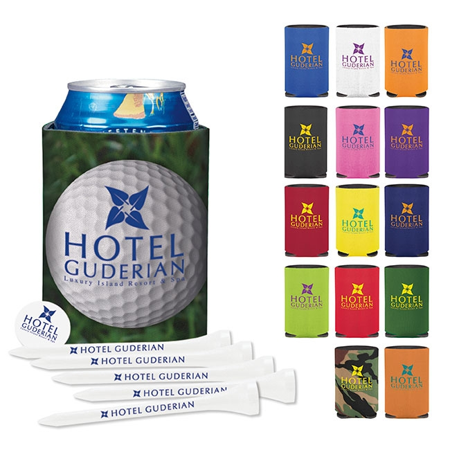 Collapsible Koozie Golf Tee Kit, #61953, 1 Colour Imprint