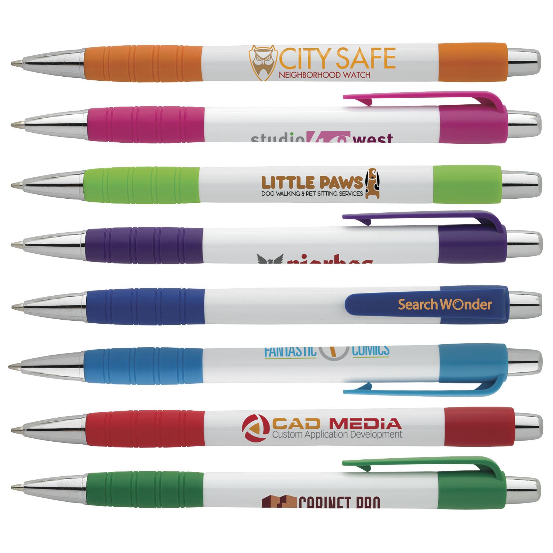 White Element Pen - 1 Colour Imprint