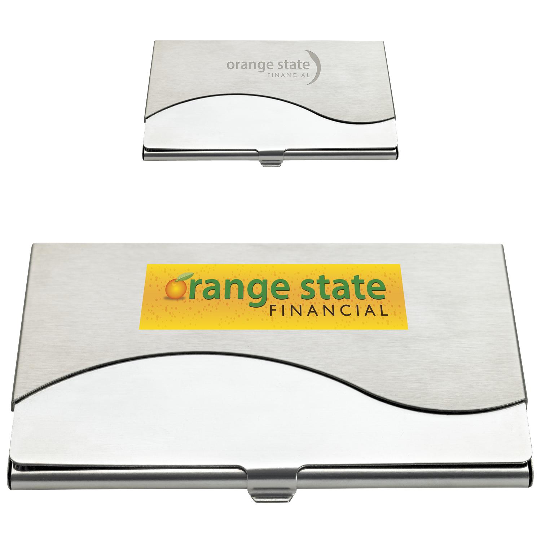 Premium Business Card Holder - Laser Engraved Imprint
