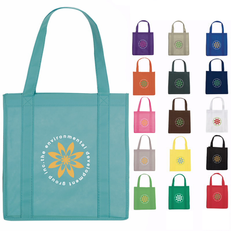 Grocery Tote Bag - 1 Colour Imprint, #45624