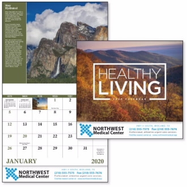 GoodValue Healthy Living Calendar (Stapled), #7273, 1 Colour Imprint