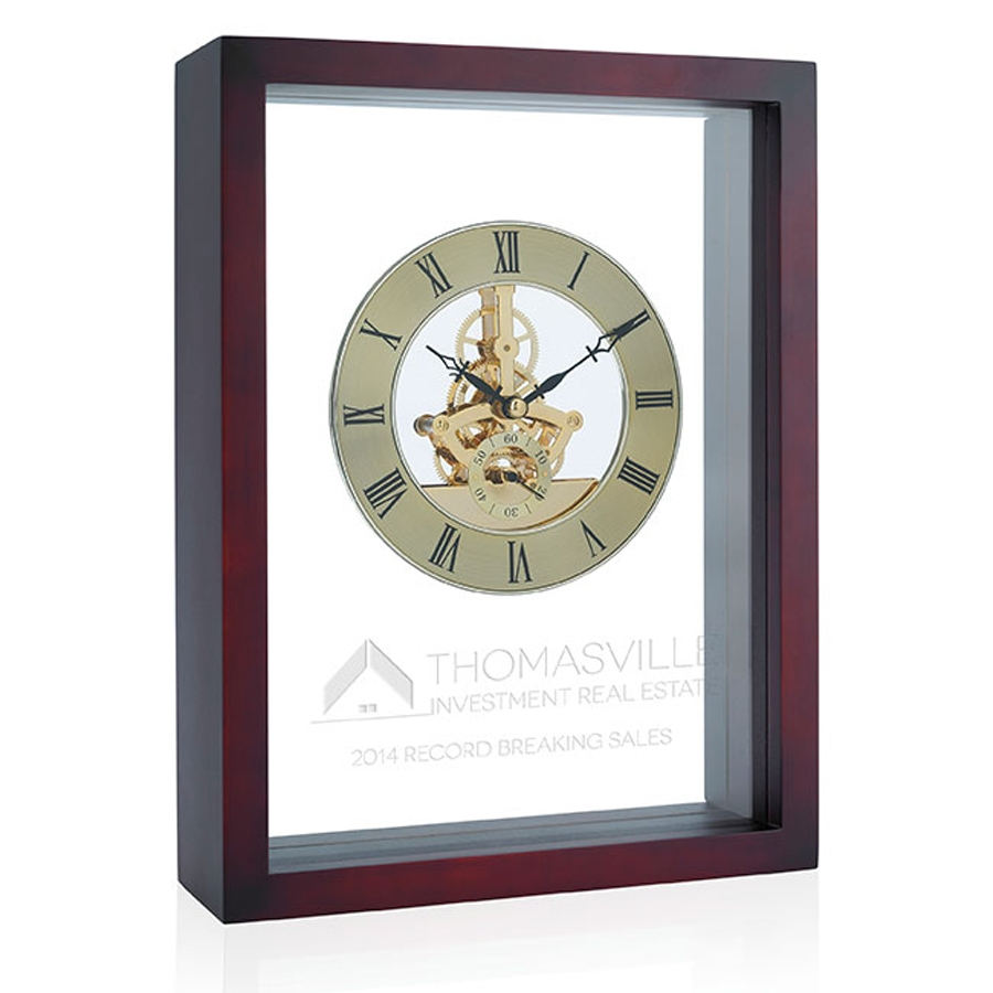 Jaffa Shadow Box Clock - Laser Engraved Imprint, #36757