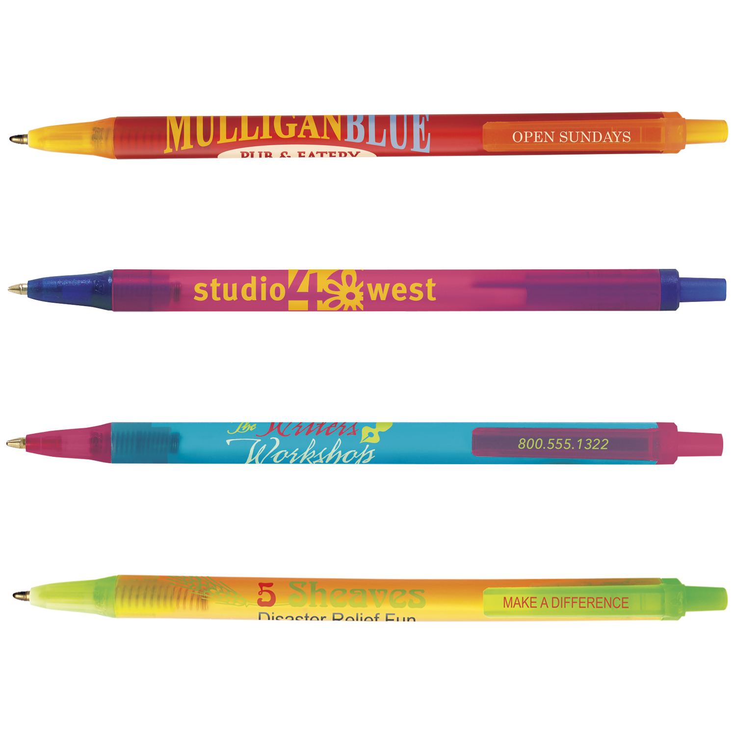 BIC Clic Stic Ice Pen, #CSI, 1 Colour Imprint