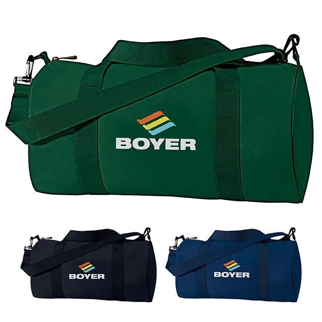 China Clipper Barrel Bag - 1 Colour Imprint