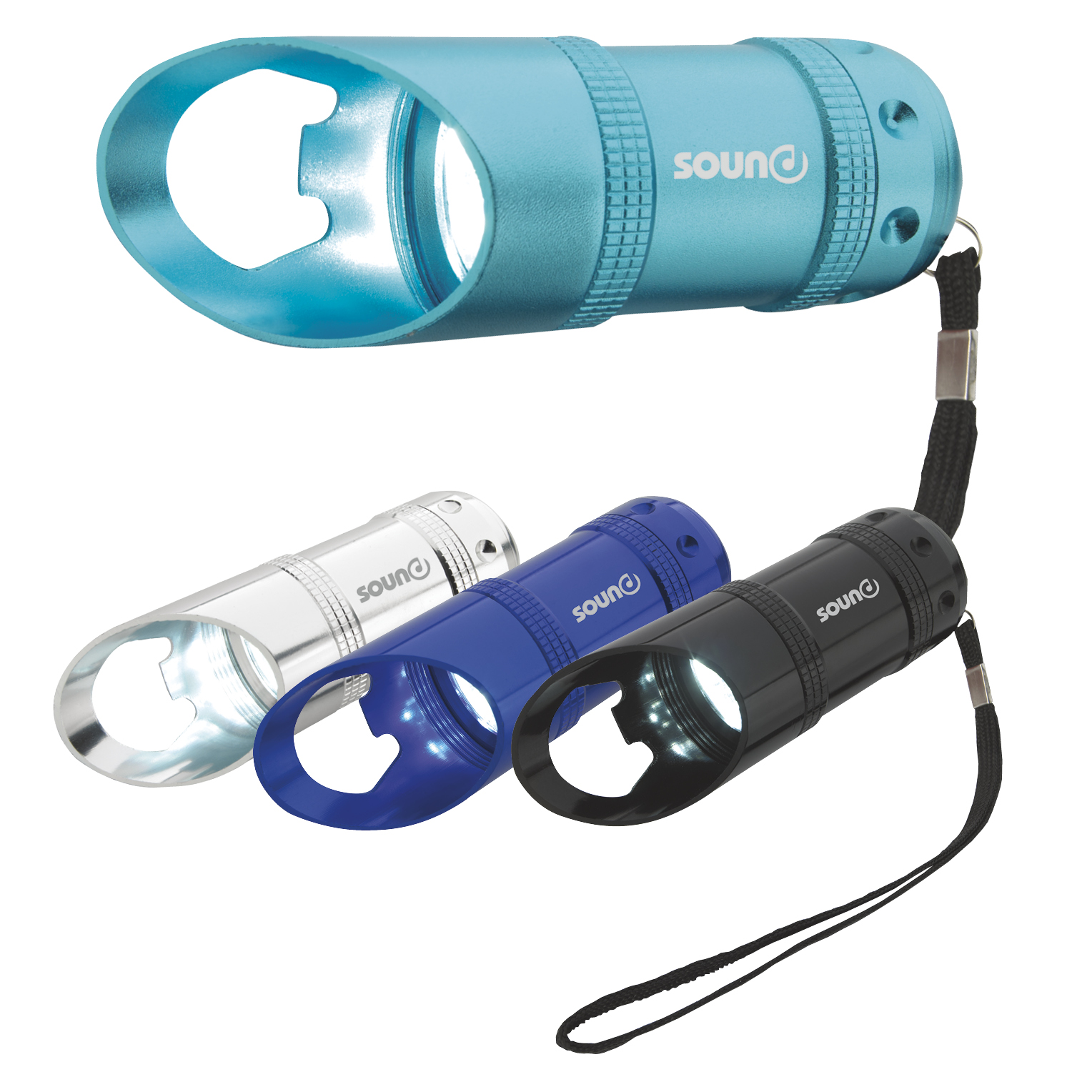 Flashlight with Bottle Opener - Laser Engraved Imprint