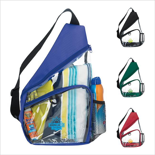 Clear Slingpack Backpack - 1 Colour Imprint