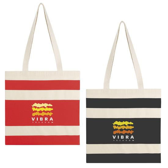 Simply Striped Tote Bag - 1 Colour Imprint