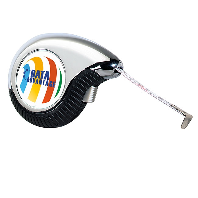 10' Ergonomic Teardrop Tape Measure - Full Colour Imprint