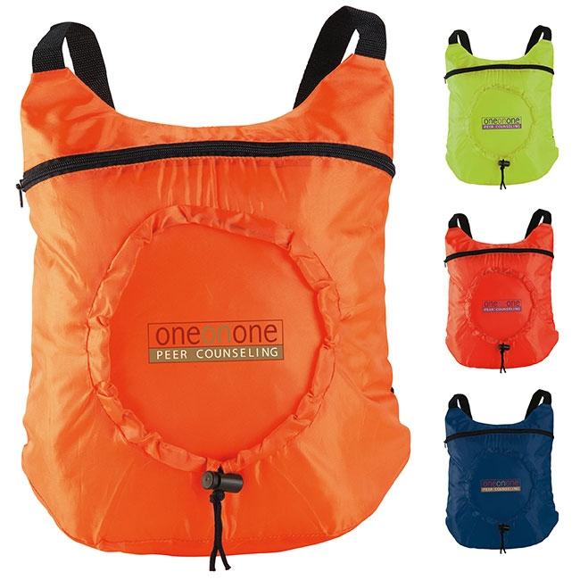 Fold Up Backpack - 1 Colour Imprint