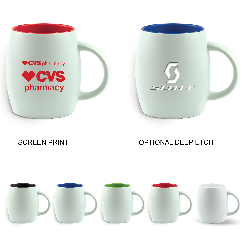 14 Oz. The Pearl Coffee Mug (Etch)
