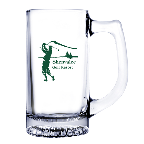 13 Oz. Glass Beer Mug (Etch)
