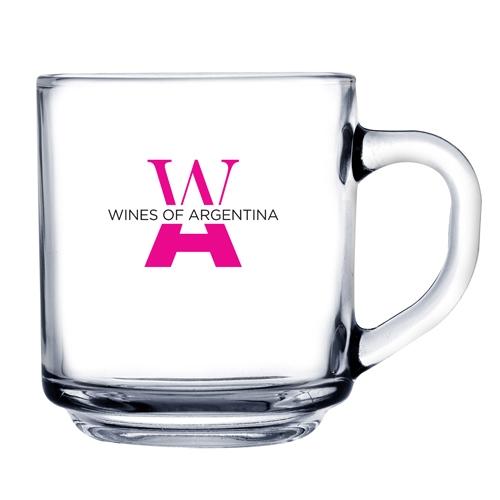 10 Oz. Glass Coffee Mug (Etch)
