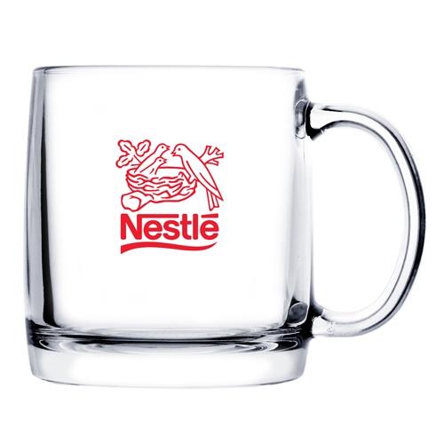 13 Oz. Glass Coffee Mug (Etch)