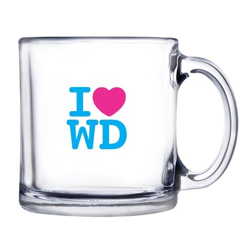 13 Oz. Warm Beverage Glass Mug (Etch)