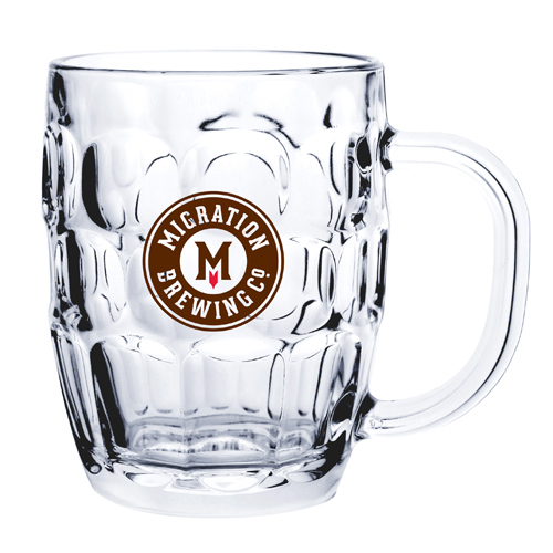 20 Oz. Glass Barrel Beer Mug (Etch)