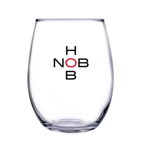 9 Oz. Stemless White Wine Glass (Etch)