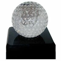 "Crystal Golf Ball w/3""x1"" Base"