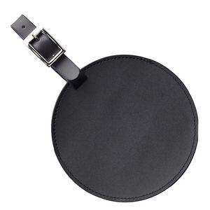 Custom Round Leather Luggage Tag