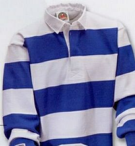 Rugby Shirt White Royal Blue