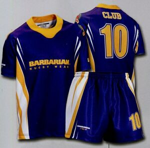 Custom Sublimated Spike Rugby Jersey Purple Gold White Sub013 Ideastage Promotional Products