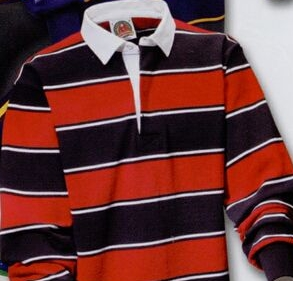 Soho Stripes Rugby Shirt Black Red White Stk161 Ideastage Promotional Products