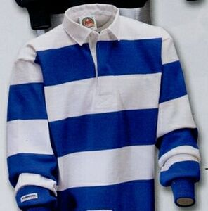 Casual 4 Stripes Rugby Shirt White