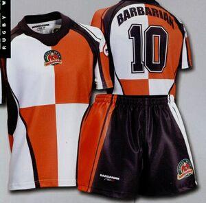 Custom Sublimated Quad Rugby Jersey White Orange Black