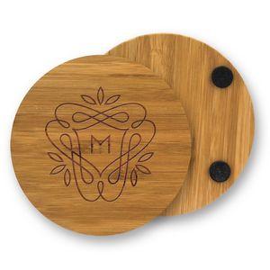 Individual Round Bamboo Coaster