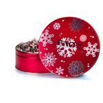 Custom Red Snowflakes Gift Tin