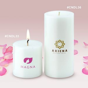 Custom Imprinted Pillar Candles!