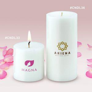 Custom Imprinted Pillar Candles