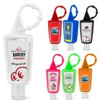 Custom 1 Oz. Hand Sanitizer w/Removable Silicone Carabiner