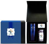 3 Piece Bento Box Gift Set w/16 Oz. Stainless Steel Tumbler