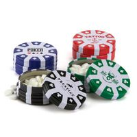 Poker Chip Container w/Breath Mints