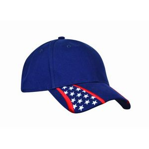 6cfd70c3f65 American Spirit Racing Cap w Navy Crown   Stars N Stripes on Bill - AS05 -  Brilliant Promotional Products