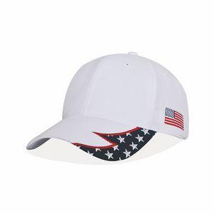 439846746f7 American Spirit Racing Cap w White Crown   US Flag - AS07 - Swag Brokers