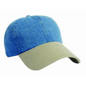 Unconstructed Washed Denim Cap - 8080 - IdeaStage Promotional Products c7360a03807