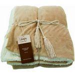 Custom Luxurious Lambswool Micro-Sherpa Throw Blanket