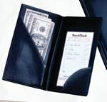 Custom Check Presenter without Credit Card Pocket/Blank/Black-- in Stock