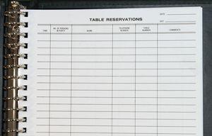 Reservation Binder Sheet (8 1/2x11). Pack of 50 refill for 22 hole Reservation Binder.