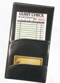 Single Panel Check Presenter w/ 2 Pockets