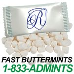 Custom Custom Printed Wrapped Candy - White Butter Mints