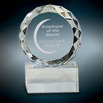 Custom Small Round Facet Crystal Award