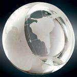 Custom Crystal Globe Paperweight Award