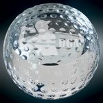 Custom Medium Crystal Golf Ball Paperweight Award