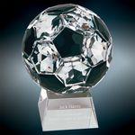 Custom Large Crystal Soccer Ball Award
