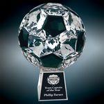 Custom Small Crystal Soccer Ball Award