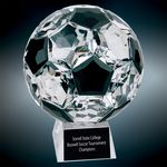 Custom Medium Crystal Soccer Ball Award