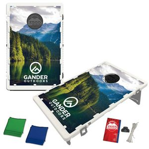The Official Baggo Bean Bag Toss Game w/ 2 Portable Boards & 8 Bags - 4 Color
