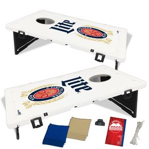 The Official Baggo Bean Bag Toss W 2 Portable Boards 8 Bags 3 Color 1507 Ideastage Promotional Products